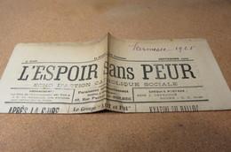 Journal SEPT 25 L'Espoir Sans Peur Journal Paroissial St Michel De Bolbec 76 FOIRE PUBLICITES LOCALES HERBIN LEBOUC - Journaux - Quotidiens