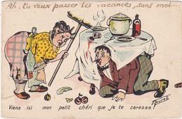 BOURET : Viens Ici Mon Petit Chéri Que Je Te Caresse !!  Femme Voulant Frappé Son Mari ( Jean E. ) Déchirure Bas Gauche - Bouret, Germaine