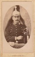 CDV Un Militaire Casque Par Eugène Marie à Dinan - Krieg, Militär