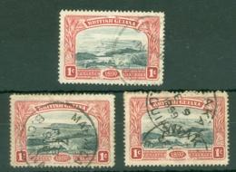 British Guiana: 1898   Queen Victoria's Jubilee   SG216   1c   Used (x3) - Guyane Britannique (...-1966)