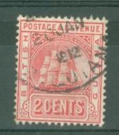 British Guiana: 1907/10   Ship   SG253a   2c  [redrawn]   Used - British Guiana (...-1966)