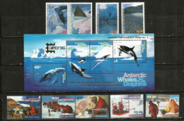 Années Complètes AAT 1996-1997.   9 Timbres + Un Bloc-feuillet Neufs **.  Côte 28.00 € - Territorio Antartico Australiano (AAT)