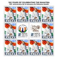 GUINEA 2019 - Mahatma Gandhi, M/S. Official Issue [GU190429c] - Mahatma Gandhi