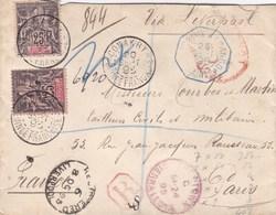 LETTRE GUINEE FRANCAISE ,,drole De Voyage ,, Lire Description RARE - Französisch-Guinea (1892-1944)