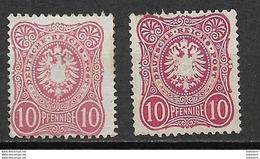 Deutsches Reich 1875, 2 Values Different Colors - Nuovi