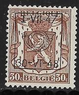 België Typo Nr. 570 - Typo Precancels 1936-51 (Small Seal Of The State)