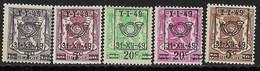 België Typo OBP Nr. 798/802 - Typo Precancels 1936-51 (Small Seal Of The State)