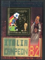 RC 15112 REP CENTRAFRICAINE FOOTBALL COUPE DU MONDE ESPAGNE 82 BLOC FEUILLET NEUF ** MNH TB - Central African Republic