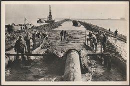 Aanleg Meerdijk Zuidelijke IJsselmeerpolders, C.1950 - Foto Briefkaart - Netherlands