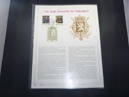 """BELG.1981 2001/2003 Filatelic Gold Card NL. : """" 150 JAAR DYNASTIE EN PARLEMENT  """" - FDC"""
