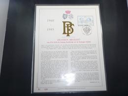 "BELG.1985 2198 FDC Filatelic Gold Card NL. : "" ZILVEREN BRUILOFT 1960-85 "" - FDC"