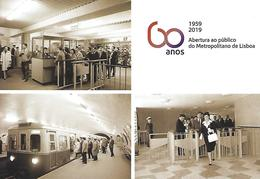 PORTUGAL - Entier Postaux N20g - 60 Years Of The Lisbon Metro - Trains