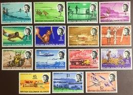 Solomon Islands 1968 Definitives Set Aircraft MNH - Isole Salomone (...-1978)