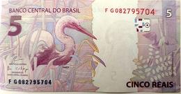 Brazil Banknote Cédula Flor De Estampa R$ 5 Reais Segunda Família FG.082.795.704 Guardia E Goldfajn UNC Bird - Brazil