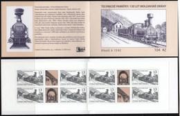 Czech Republic 2015 130 Years Of The Moldava-Saxony Railway Trains Booklet MNH - Trains