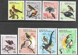 Papua  New Guinea  1964-5   Sc#188-95  Birds To The 2sh3d  MNH  2016 Scott Value $8.05 - Papua New Guinea