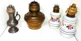Lots De 4 Lampes A Petroles - Luminaires