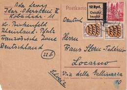 ALLEMAGNE 1947  ZONE FRANCAISE . ENTIER POSTAL  /GANZSACHE/POSTAL STATIONERY CARTE DE IDAR-OBERSTEIN - Zona Francesa