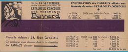CATALOGUE-CONCOURS DES VETEMENTS BAYARD 28 RUE GRENETTE  / COMPAGNIE DU GAZ DE LYON 1933 - Publicités