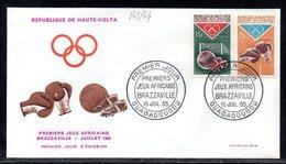 Haute-Volta 143/44 Fdc Boxe , Football , Jeux Africains De Brazzaville , Congo - Football