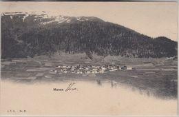 Schweiz - Manas Vnà Graubünden Ortsansicht Sw-AK Gelaufen 1909 - Non Classificati