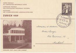 Schweiz - 10 Rp. Armbrust Ganzsache Landesausstellung SST Postbureau Zürich 1939 - Ganzsachen