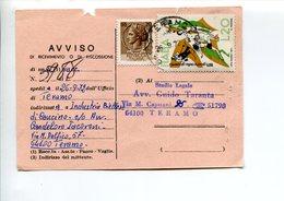 Italia (1972) - Avviso Di Ricevimento Da Teramo - 6. 1946-.. Repubblica