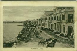 GREECE - CYPRUS - LIMASSOL QUAY - EDIZ. J.P. FOSCOLO - 1920s  (5986) - Grecia