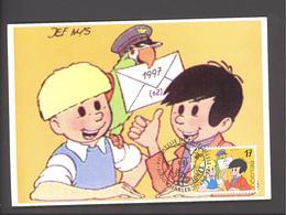 Carte Maximum - Jommeke - Gil Et Jo - Jef Nijs - Timbre N° 2707 - 1997 - Maximum Cards