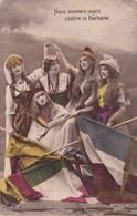 DESTOCKAGE//001.....45 CPA  PATRIOTIQUES ...LES FEMMES - 5 - 99 Postkaarten