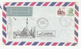 Yugoslavia IAF Illustrated Rocket Mail Letter Cover 1978 Bb200110 - Trasporti