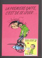 Carte Maximum - Gaston Lagaffe - La Première Gaffe, C'est De Se Lever - Franquin & Cie - Timbre N° 2484 - 1992 - Maximum Cards