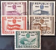 AUSTRIA 1955 - Canceled - ANK 1021-1025 - Complete Set! - 1945-60 Oblitérés
