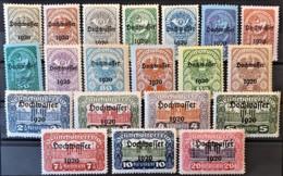 AUSTRIA 1920 - MLH - ANK 340-359 - Complete Set! - Hochwasser - 1918-1945 1ra República