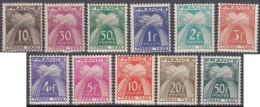 France - Timbres-taxe N° 78 à 88 (YT) Neufs **. Série Partielle. - Segnatasse