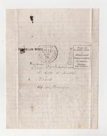 Ballon Monté Le Ville D'Orléans Tombé En Mer  Timbre Perdu  Départ La Maison Blanche Le 24//11/1870 Certificat Expert - 1870 Siège De Paris