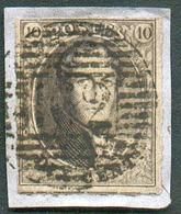 N°3 - Médaillon 10 Centimes Brun TB Margé Et Voisin, Obl. P.162 TAMINES Sur Petit Fragment.  TB  - 14990 - Belgique