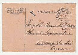 K.u.k. Austria Bosnia Feldpostkarte Posted 1915 Banjaluka To Sopron Bb200110 - Bosnie-Herzegovine