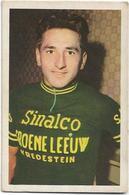 Coureur - Wielrenner  *  Chromo Vignette Frans Demulder - Kruishoutem 1937 - Team Sinalco - Groene Leeuw - Vredestein - Cycling