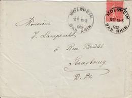 Env Affr Y&T 199 Obl MOLSHEIM Du 10.5.1932 Adressée à Strasbourg - Marcophilie (Lettres)