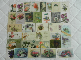 34 CPA  Fleurs  Divers - Bloemen