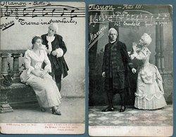 Manon Opéra De Massenet: Lot De 4 Cpa - Opera