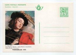 - Entier Postal BELGIQUE - BRIEFKAART THEMABELGA 1975 - A. Van Dyck - Saint-Martin - - Entiers Postaux