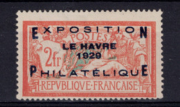 LE RARE N° 257A NEUF **/* TB (SIGNÉ BRUN) - MERSON SURCHARGE De L'EXPOSITION PHILATELIQUE DU HAVRE De 1929 - Nuovi