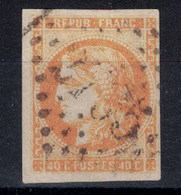 TIMBRE CERES BORDEAUX N° 48 OBLITÉRÉ SANS DÉFAUT AVEC 4 MARGES - NUANCE JAUNE-ORANGE OBLITÉRÉ GC - 1870 Emissione Di Bordeaux