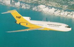 "NORTHEAST JET ""Yellowbird"" Airplane Over Miami Beach , Florida , 50-60s - 1946-....: Ere Moderne"