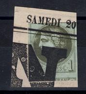 CERES BORDEAUX N° 39 Avec BELLE OBLITÉRATION TYPO TYPOGRAPHIQUE Sur PETIT FRAGMENT De JOURNAL - 1870 Emissione Di Bordeaux