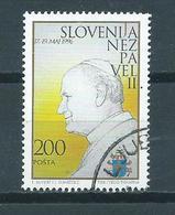 1996 Slovenia Pope Used/gebruikt/oblitere - Slovénie