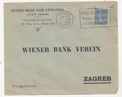 Banque Belgge Poru L'Etranger, Paris 15 Company Letter Covers Posted 1921/22 To WBV Zagreb B200110 - Storia Postale