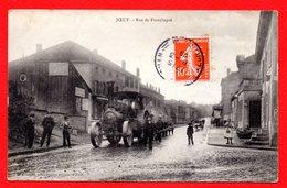54. Joeuf. Rue De Franchepré. Café Lefèvre. Moteur De Transport Routier Charles Burrell & Sons ( Thetford). 1909 - Andere Gemeenten